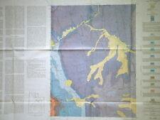 Usgs Bridal Veil Falls Utah Geology Map Full Color Vintage 1972 Provo River Nice