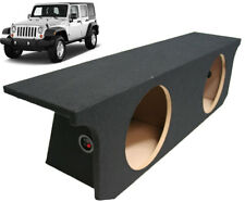 2007-2015 Jeep Wrangler Unlimited Dual 10 Custom Fit Subwoofer Enclosure Sub Box