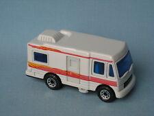 Matchbox caravane tourer rv corps blanc rayures rose camping vacances jouet voiture modèle