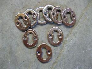 1 No Original Reclaimed Vitreous Enamel Copper Lustre Key Hole Escutcheon  KH11