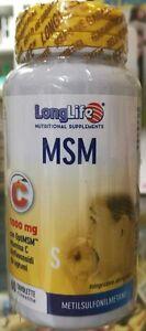 LONGLIFE MSM 1000 MG CON VITAMINA C 60 TAVOLETTE METILSULFONILMETANO PHOENIX