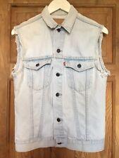 Levi's Menswear sans manches pâle Veste en jean sans manches Gilet Taille 36 Tour De Poitrine Petit