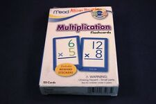 Educational Box of Multiplication Flash Cards 2-4 grades Mead