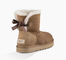 New UGG Women's Mini Bailey Bow II Boots 1016501 Chestnut 8
