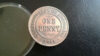 WORLD OLD COINS AUSTRALIA 1911 ONE Penny King George IV Large cent Old Coin!!!