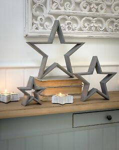 Large Grey Wooden Mantelpiece Star | 35cm