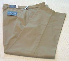 Mens Croft & Barrow Tan Cotton Blend Slacks/Pants, 42x32, NWT
