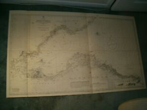 Vintage Admiralty Chart 114A FIRTH OF FORTH - ST ABBS HEAD to FORTH BRI 1919 edn