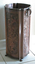 Solid Copper Umbrella Stand Embossed RH255CPR