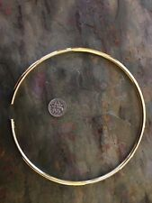 14 KT Yellow Gold Vermeil Neck Wire Ring Collar Necklace Open collar Tube 15.5