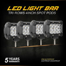 4x 4inch 432W SPOT LED Driving Work Light Bar ATV JEEP 4X4WD Truck Offroad Pods