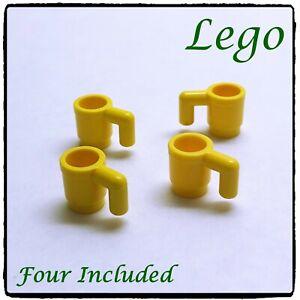 LEGO Minifigure Cup Mug, Yellow ~4 included~