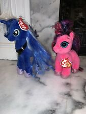 "Ty My Little Pony Princess Luna Sparkle Ruby Beanie Babies Collection 9"" W/ Tags"
