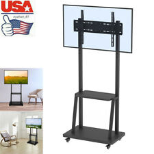 "USA 40""-80"" TV Floor Stand Television Trolley Bracket 176lb VESA 400 x 600 mm"