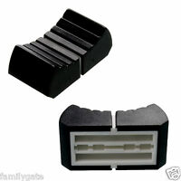 2 Professional Fader Knob Black T-Lever Slider Control Button Sliding Control
