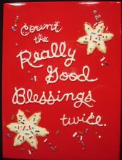 """HALLMARK """"COUNT THE REALLY GOOD BLESSINGS TWICE"""" PLAQUE OR TRIVET"""