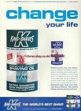 King Of Shaves Saving Oil 1999 Magazine Advert #1958