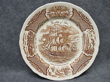 """Alfred Meakin China 10.5"""" Dinner Plate Fair Winds Friendship Of Salem Ship Boat"""