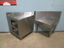 """""""Perlick"""" Lot Of 2 Commercial Heavy Duty Under Counter Corner Ss Drain-Boards"""