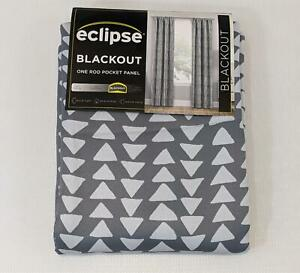 "Eclipse One Rod Pocket Panel Blackout 100% Naya Grey 37x84"" NEW 1202"