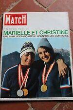 REVUE PARIS MATCH 775 SPORT SKI OLYMPIQUE GOITSCHEL 1964