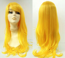 Yellow Long Straight Costume Wig Synthetic Cosplay Anime Mermaid Lolita 26""