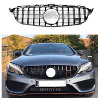 No Front Camera for Mercedes C Class W205 C250 C43 GT Panamericana Grill Black