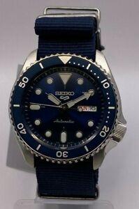 Seiko 5 Sports Men's Auto Blue Dial Blue Nylon Strap Watch SRPD51K2