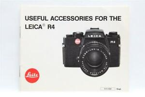 Very Clean Useful Accessories for Leica R4 Manual #P-1016