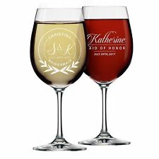 Personalized Wine Glass - 20 oz Gift for Her, Bridal Party - Monogrammed, Name