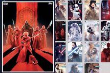 Topps Star Wars Card Trader The Last Jedi Premiere Set w/ Villian Award 16 Cards
