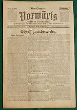 VORWÄRTS (8. Januar 1920): Schroff zurückgewiesen - Die dt. Wünsche abgelehnt