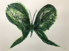 """CHARLES BLACKMAN """"Leaf Butterfly"""" Signed, Limited Edition Silkscreen 56cm x 76cm"""