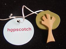 HOPSCOTCH WOODEN TREE BROOCH - green & natural wood