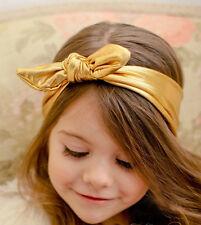 Baby Headbands,Gold Baby Headband,Girls Head wraps,Baby,Knott,Jersey Knit