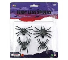 BENDY LEGS SPIDERS 1 PACKET NOVELTY HORROR TOY GAG KIDS TRICK HALLOWEEN HOBBY