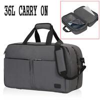 Travel Weekender Bag Duffel Flight Approved Carry on RFID Holdall 36L Waterproof
