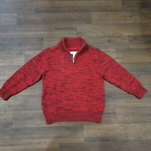 Calvin Klein Red 1/4 Zip Cotton Sweater Boys S (4)