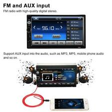 7'' HD Double 2DIN Bluetooth Touch Screen Car Radio Stereo MP5 MP3 Player HD TOP