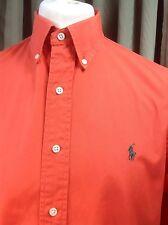 "Polo by Ralph Lauren Classic Fit Naranja 100% Algodón Camisa L C42-45"""