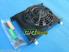 """Universal 30 Row 10 AN Transmission Oil Cooler & 7"""" inch fan JAPAN TUNING CARS"""