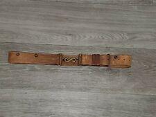 """Original """"C /I"""" Oliver Pattern Leather Snake Buckle Belt Canadian"""
