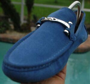 Men's GUCCI Blue Baffin  driverrs  Horse-bit Loafers shoes Gucci Sze 7.5 D US 9