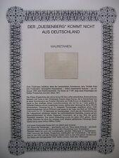 """Irrtümer auf Briefmarken / Blatt """" Der Duesenberg kommt nicht aus Deutschland """""""