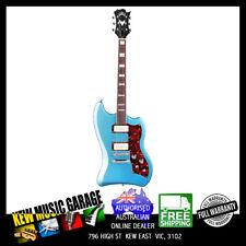 GUILD NEWARK ST COLLECTION T-BIRD ST P90  PELHAM BLUE ELEC GUITAR W/DLX GIG BAG