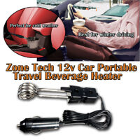 Zone Tech Portable 12V Car Immersion Heated Auto Electric Tea Coffee Water