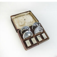 English Smoking Set Mappin Webb Sterling Silver 1933 Boxed
