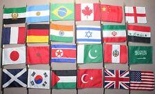 """24 International Country Nations of the World Miniature Mini Small Flags 4""""x5.5"""""""
