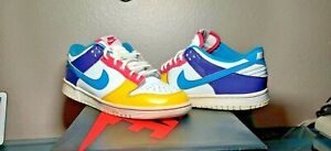 NIKE DUNK LOW RAINBOW PATENT 2009 YOUTH GS 309601-145 Pink Size 6y Women's 7.5