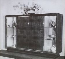 Cabinet by Leon Bouchet (Label in French), Magic Lantern Glass Slide